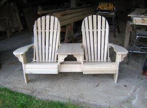 double adirondack chair with table