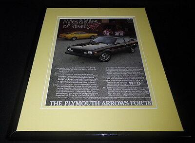 1978 Plymouth Arrow 11x14 Framed ORIGINAL Vintage Advertisement ()