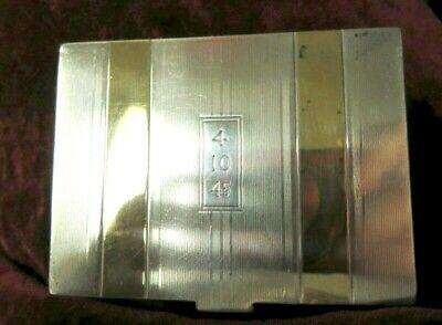 """Antique R. Blackinton &Co.-14K& Sterling Compact 1945 Case-2-7/8""""(W)x2-1/8""""(L)"""