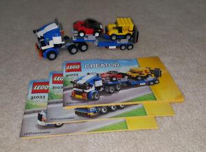 Complete Lego Sets - Vehicle Transporter & Racing Bike Transport