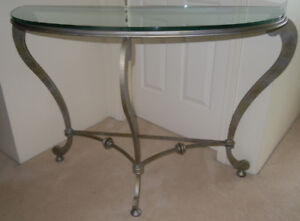 Designer Glass Top Console Table