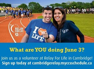 Volunteer Opportunity: Relay For Life in Cambridge