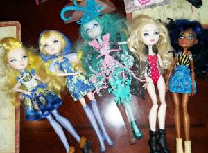 Poupées Barbie, Monster high et accessoires
