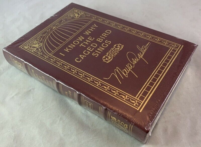 Sealed Signed Maya Angelou I Know Why the Caged Bird Sings Leather Easton Press