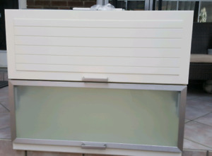 IKEA White Storage Cabinet  with frosted glass