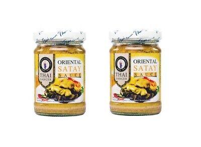 Satay Sauce Doppelpack: 2 x 227g von Thai Dancer Erdnuss Sauce Erdnusssauce