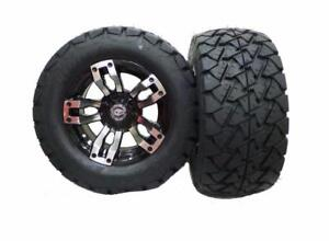"""GOLF CART ACCESSORY PACKAGE DEAL ~ 6"""" Jake's Lift Kit - 12 """" Tire and Wheel Package"""