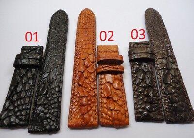 Crocodile Alligator Genuine Leather - Genuine Leg Crocodile Alligator Skin Leather Watch Strap Band 18mm/24mm