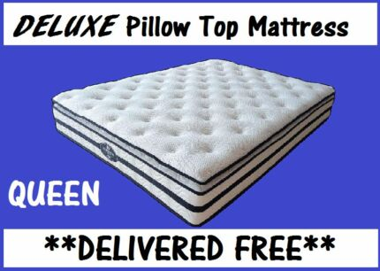 DELIVERED FREE Queen Deluxe Pillow Top Mattress - BRAND NEW New Farm Brisbane North East Preview