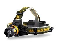 Adjustable Zoomable Waterproof LED Head Torch / Camping Light - 3 Modes - 200 Metres Visability