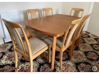 Dining Table and 6 Chairs - Excellent Condition