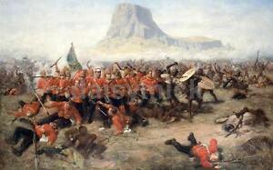 Anglo Zulu War Isandlwana Charles Edward Fripp 1885, Art Print 7x4 inches