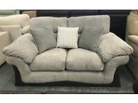 Cord fabric 2 seater sofa