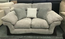 DFS fabric cord 2 seater sofa