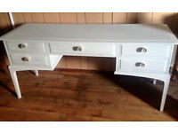 Upcycled Stag Dressing table/sideboard/chest in Soft Grey & Silver