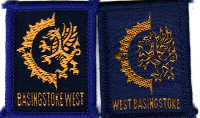 Boy Scout Badges BASINGSTOKE WEST District x 2 varieties