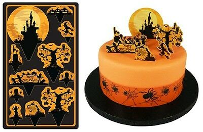 HALLOWEEN CAKE TOPPER KIT spooky scary cupcake toppers SUGARCRAFT HAUNTED