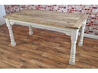 Farmhouse Extending Rustic Dining Table - to seat 6 - 12 people