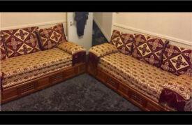 Arabian style sofa settee X 2