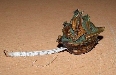 Antique Celluloid Ship Seamstress Measuring Tape