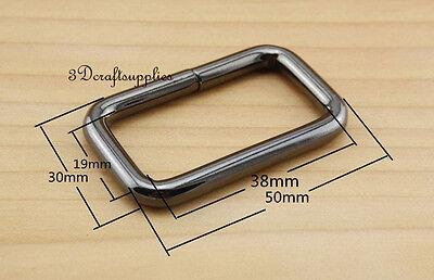 Rectangle Rings webbing Belt buckle gunmetal 38 mm 1 1/2 inch 10pcs