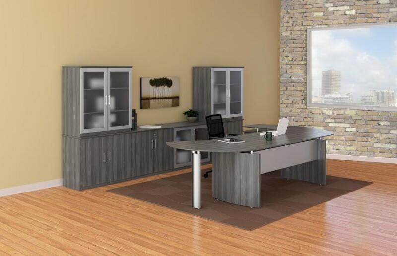 Mayline Medina Gray Steel Finished Office Furniture Set