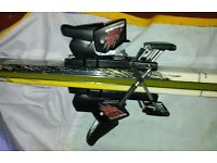 Ladies Salomon Rossignol skis with bindings, in excellent condition, bag, poles, 23.5 technica boots