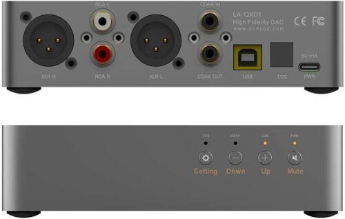SONCOX LA-QXD1 BALANCED DAC SPDIF COAX TOSLINK USB XLR RCA XMOS ES9038Q2M DDC