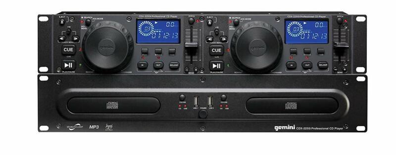 Gemini CDX-2250i Pro DJ Dual Two Deck Rack Mount CD/MP3 Media Player w/ USB