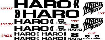 1 Decal Set x 2 BMX Haro No