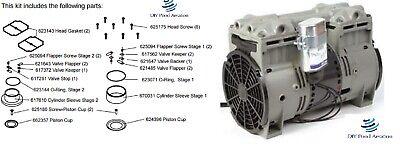 New Oem Rebuild Kit For Thomas Compressor Models 2668t 2688t Kit Sk2668t