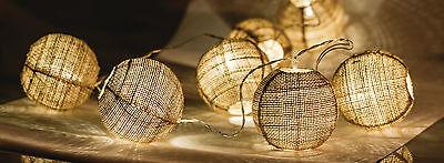 Guirnalda Luminosa A Pilas 2mètres Decoración Noel 10 Bolas Cuerdas A LED...