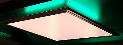 2000 Flat Panel (LED Panel Decken Leuchte FLAT nickel 3500 Lumen 60x60 CCT dimmbar RGB Backlight)