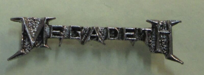 MEGADETH METAL VINTAGE METAL LAPEL PIN NEW FROM LATE 80