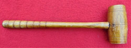 """VINTAGE WOODEN JUDGE OR AUCTIONEER GAVEL ~ 9 7/8"""" LONG ~ EXCELLENT CONDITION"""