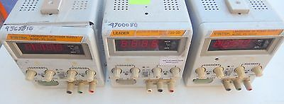 Instek Ps-3030d Dc Power Supply -030v0-3a Lot Of 3