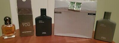 Mens Cologne Fragrance Lot Used Preowned-   Armani Stronger with You/ Zara W/end