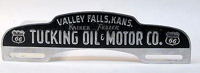 Phillips 66 Tucking Oil   Motor Kaiser Frazer License Topper Attachment Kansas
