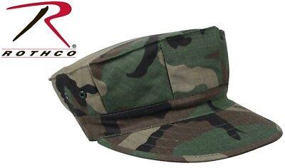 Woodland Camouflage Military Style Marine & Navy 8 Point Cover Fatigue Hat 5633 Camouflage Military Style Cap