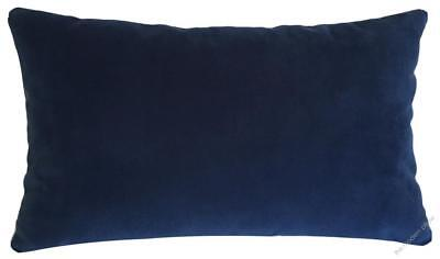 Navy Blue Velvet Suede Decorative Throw Pillow Cover / Cushion Cover 12x20""