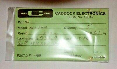 130.0 Ohm 0.1 0.25 Watt Caddock Precision Resistors - 5 Pcs