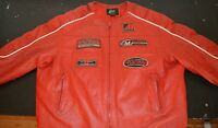Manteau cuir MotoSport Bike Leather Jacket