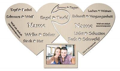 Liebes Bilderrahmen Geschenke für Liebespaar Freundin Freund Frauen