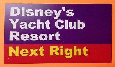 "Walt Disney World Road Sign Inspired Magnet 2"" X 3.5"" Disney's Yacht Club Resort"