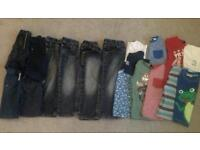 Bundle boys clothes 14 items Age 2-3 long & short sleeved T-shirts, age 3-4 jeans trousers & shorts