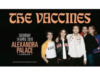 2 tickets for The Vaccines at Alexandra Palace on 14th of April 2018