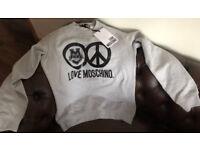 Love Moschino Mens Grey Medium Jumper Sweater New 100% Authentic Designer Wear