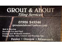 GROUT & ABOUT Tiling Services. Wall and floor tiles fitted, taking bookings for January