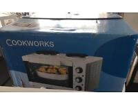 Cook works oven with hob white hardly used