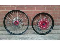 Honda CR CRF 250 450 WHEELS EXCEL HAAN RED BLACK
